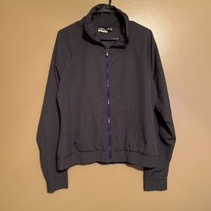 UNDER ARMOUR Gray + Purple Zip Up Jacket Sz Large
